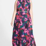 Floral Maxi Dress at Nordstrom- Plus Size Floral Dresses on The Curvy Fashionista