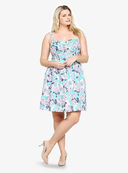 Floral Sundress at Torrid- Plus Size Floral Dresses on The Curvy Fashionista