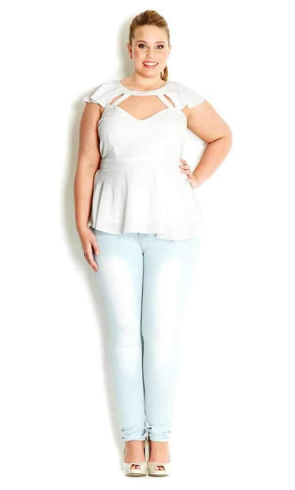 Flutter Peplum Top at City Chic on The Curvy Fashionista