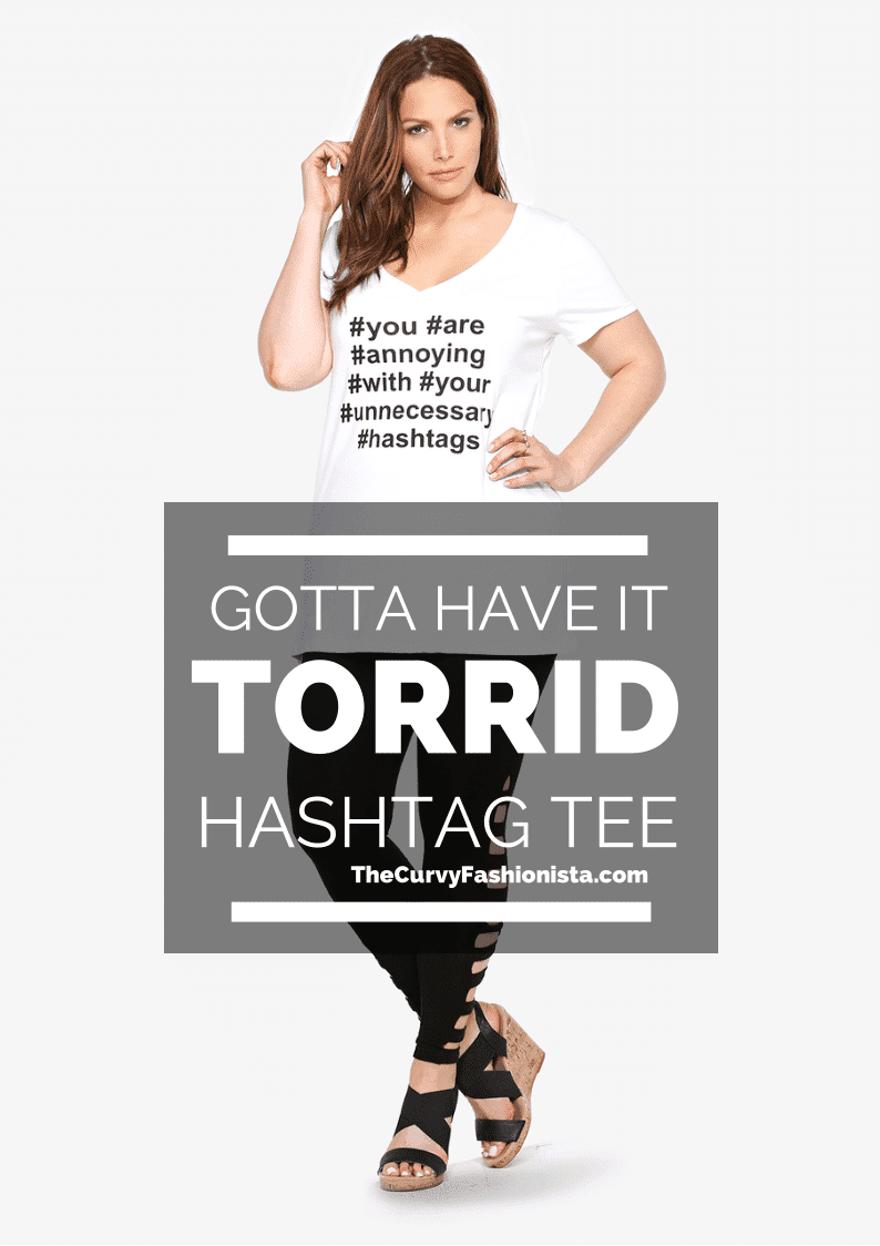 Hashtag tee by torrid