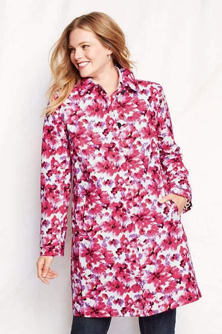 LandsEnd_Floral Raincoat