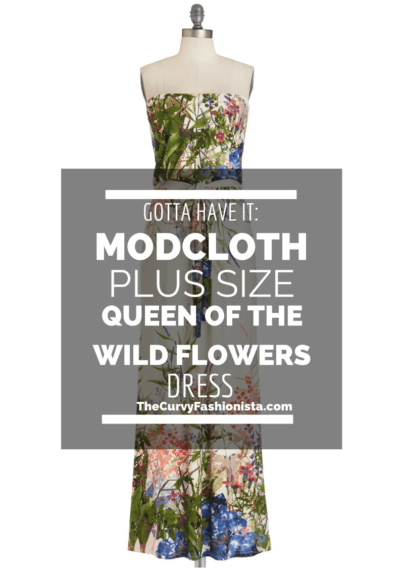 ModCloth Plus Size Queen of the Wild Flowers Dress