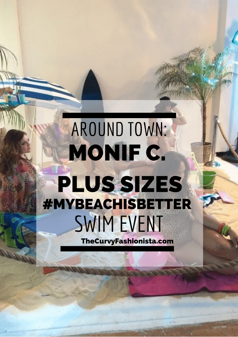 Monif C Plus Sizes #MyBeachISBetter Swim Event