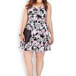 Paradiso Fit  Flare Dress at Forever 21-Plus Size Floral Dresses on The Curvy Fashionista