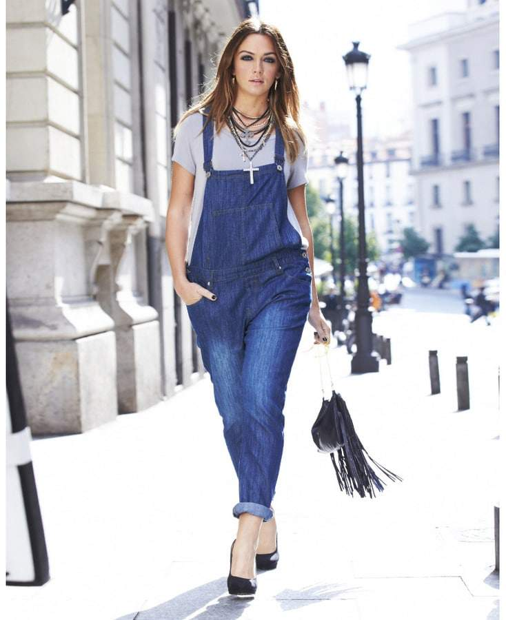 Simply Be Plus Size Denim Overalls on The Curvy Fashionista