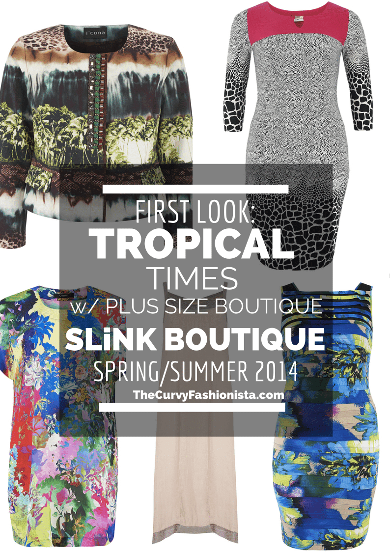 Tropical Times with Plus Size Boutique- SLiNK boutique on The Curvy Fashionista