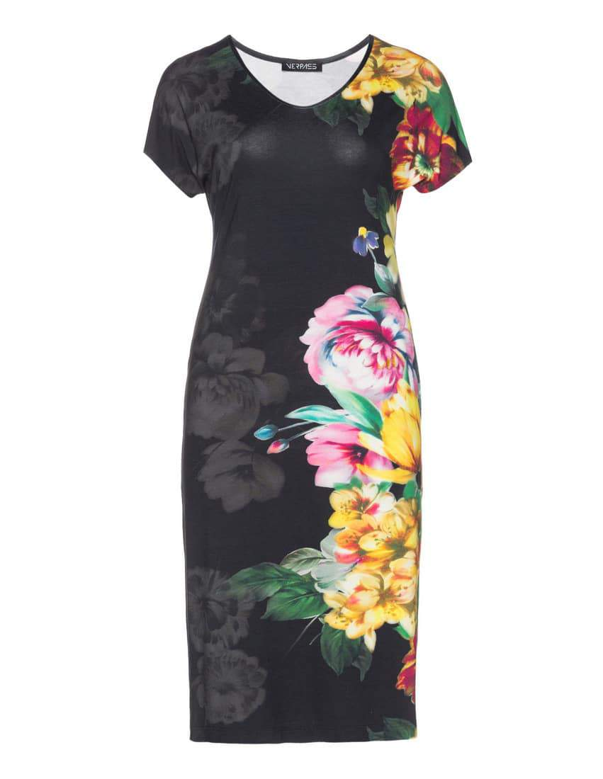 Verpass Jersey Shirt With Allover Print at Navabi- Plus Size Floral Dresses on The Curvy Fashionista