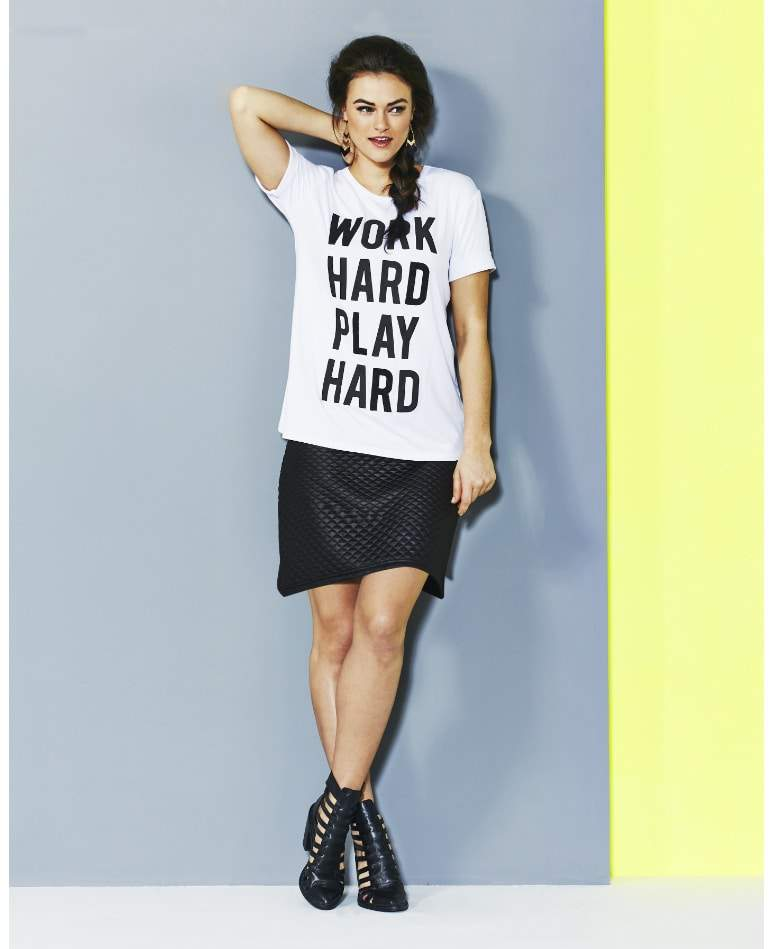 Work Hard Play Hard T Shirt at Simply Be on The Curvy Fashionista