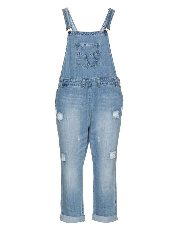 ZiZZi Plus Size Denim Overalls on The Curvy Fashionista