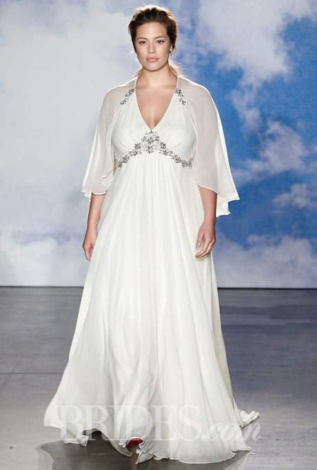 Jenny packham 2015 bridal collection features plus size for Plus size after wedding dress
