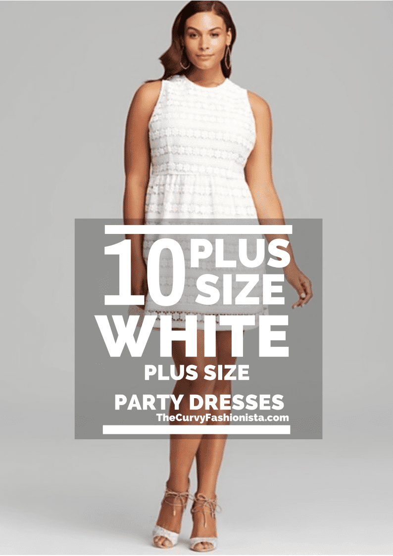 All White Plus Size Party Dresses