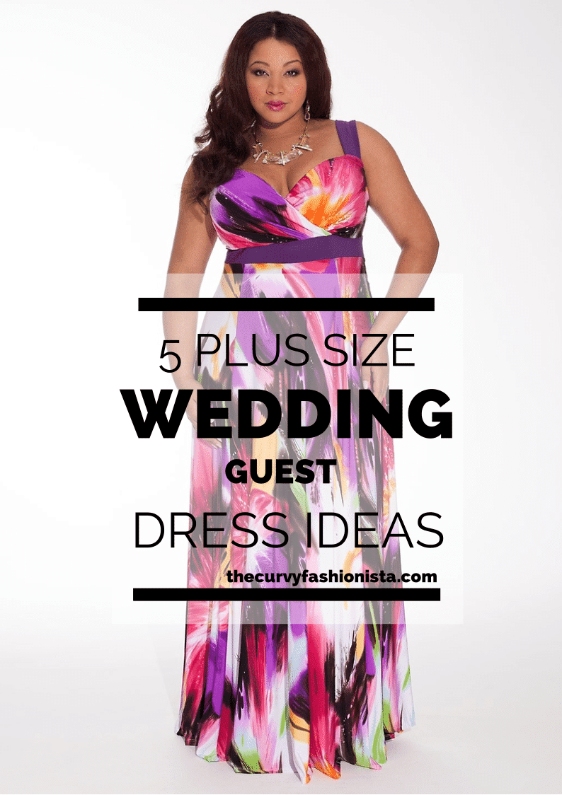 wedding season: 5 plus size wedding guest dresses | the curvy