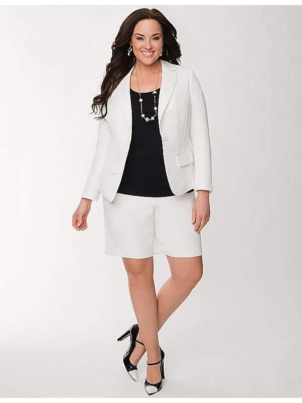 Brocade White Shorts from Lane Bryant