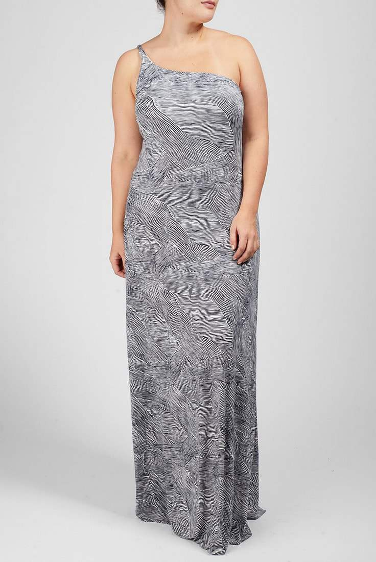 Conrad Print Dress by Rachel Pally White Label- Plus Size Maxi Dresses on The Curvy Fashionista