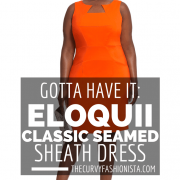 Eloquii Classic Seamed Plus Size Sheath Dress