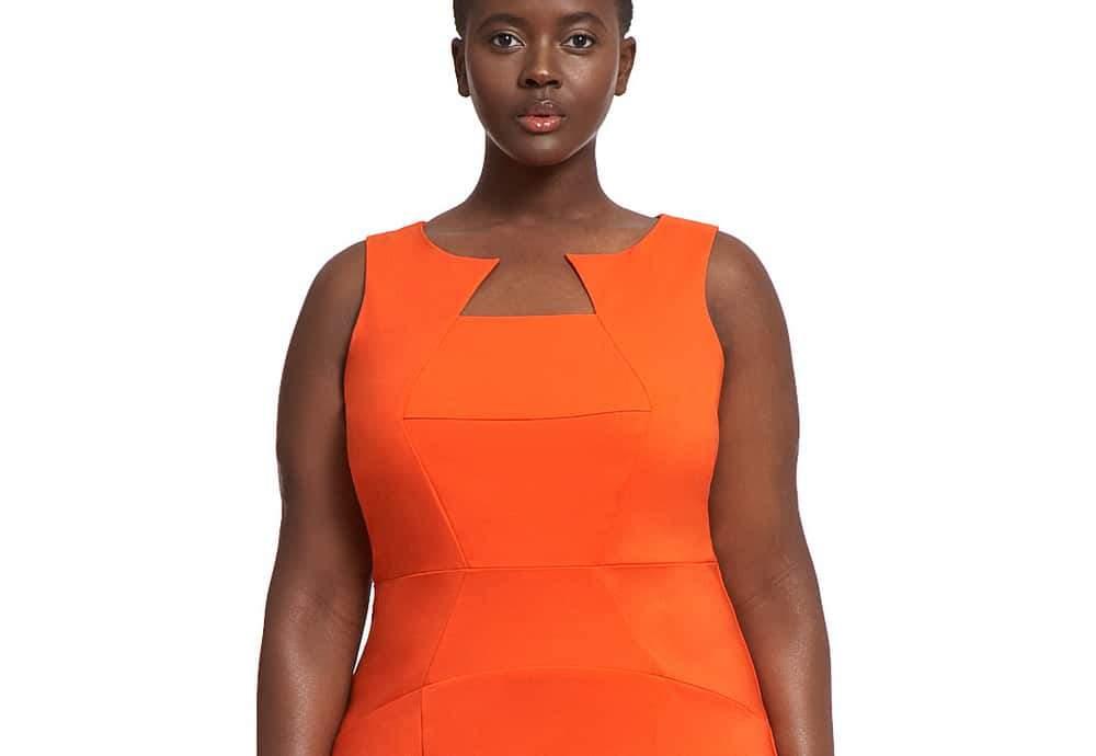 Eloquii Classic Seamed Sheath Plus Size Dress