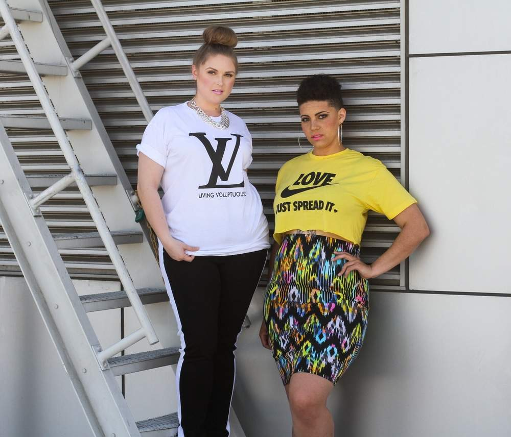 Feminine Funk Plus Size Tees Look Book on The Curvy Fashionista