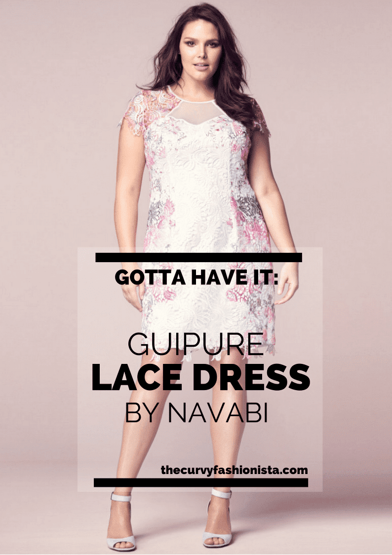 Guipure Plus Size Lace Dress by Navabi on The Curvy Fashionista #TCFStyle