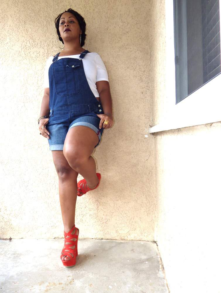 The Curvy Fashionista in Addition Elle Plus Size Overalls