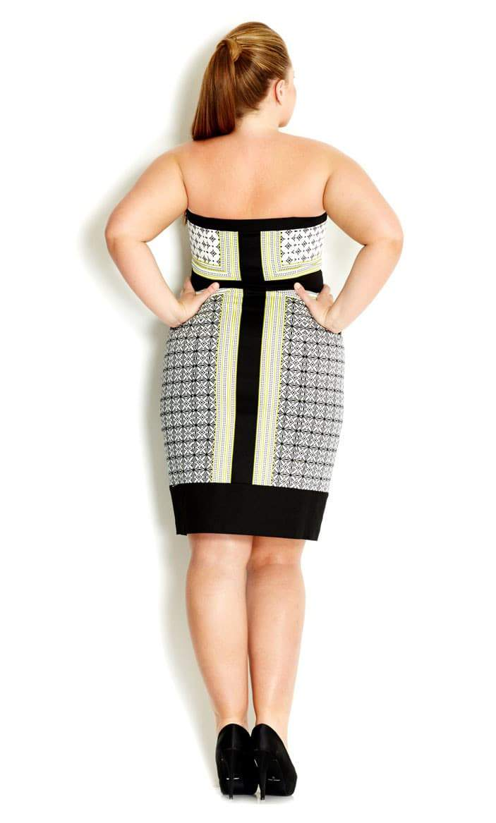 Mod Babe Plus Size Strapless Dress by City Chic  on The Curvy Fashionista