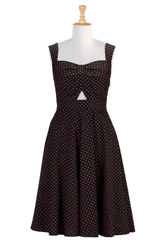 Polka dot cutout cotton dress from eshakti