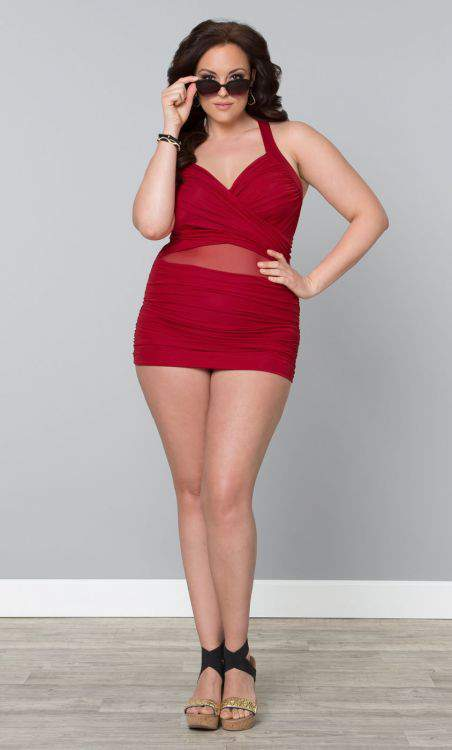 Sand and Glam Illusion Plus Size Swimsuit by Kiyonna