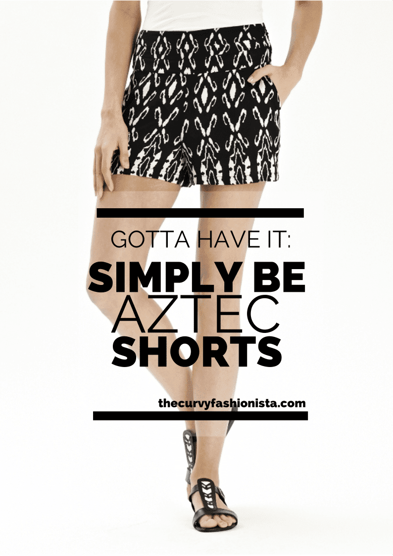 Simply Be Plus Size Aztec Shorts