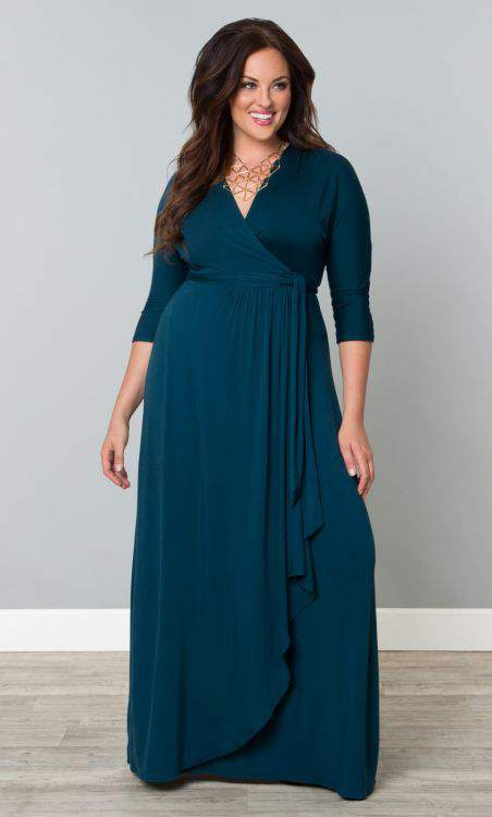 Wrapped in Romance Dress by Kiyonna- Plus Size Maxi Dresses on The Curvy Fashionista