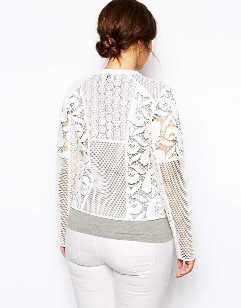 ASOS Curve Plus Size Premium Lace Jacket on The Curvy Fashionista
