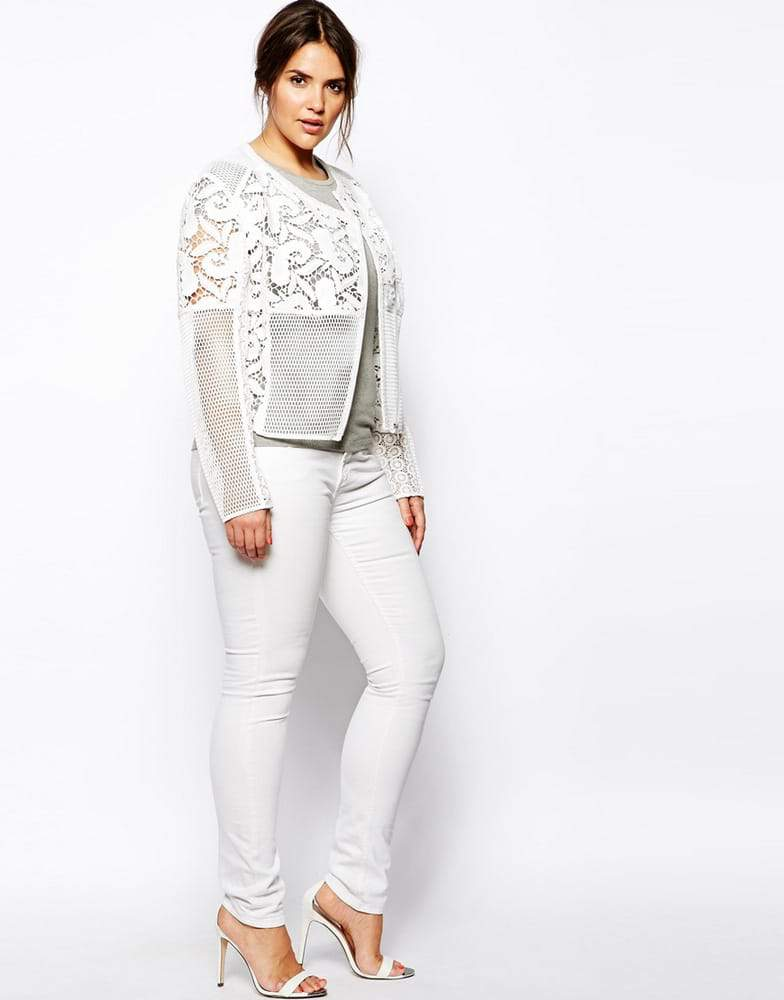 ASOS Curve Plus Size Premium Lace Jacket on The Curvy Fashionista