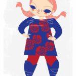 Plus Size Art: Cherry from Studio Killers OOTD-English rose meets Pippi Longstocking