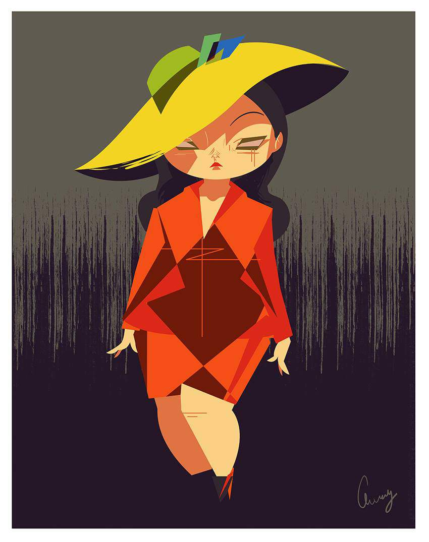 Plus Size Art: Cherry from Studio Killers OOTD- Friday femme fatale
