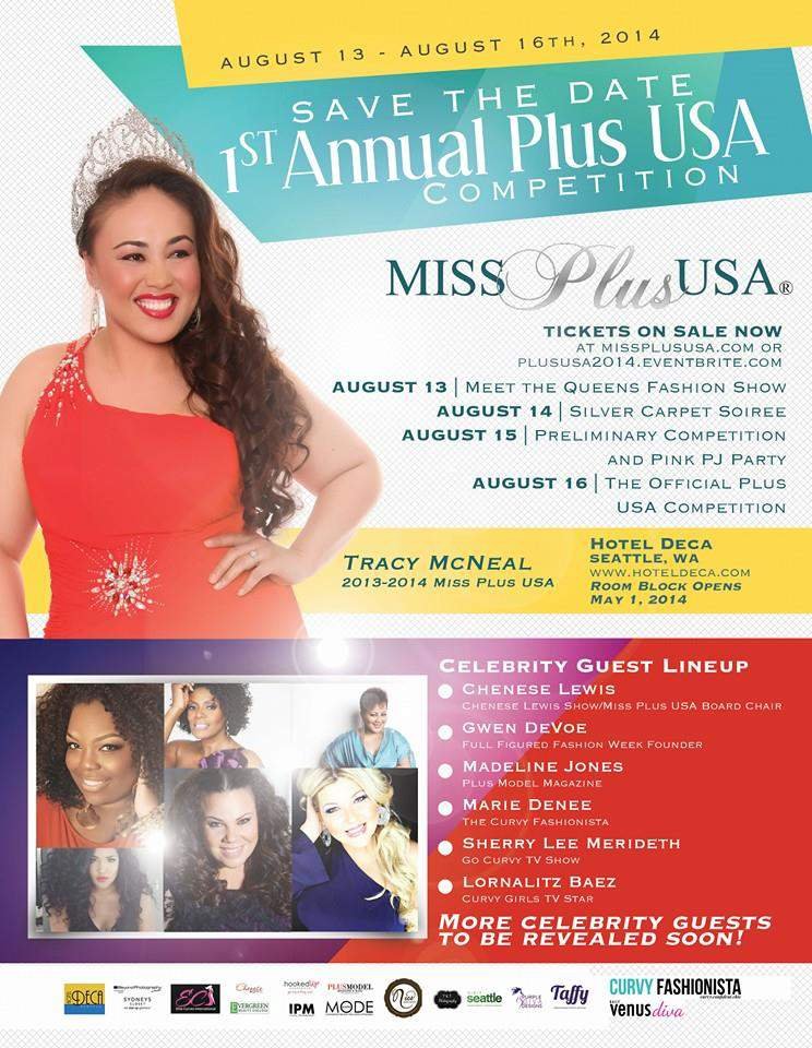 Save the Date: Miss Plus USA Competition Hits Seattle- Will You Be There?