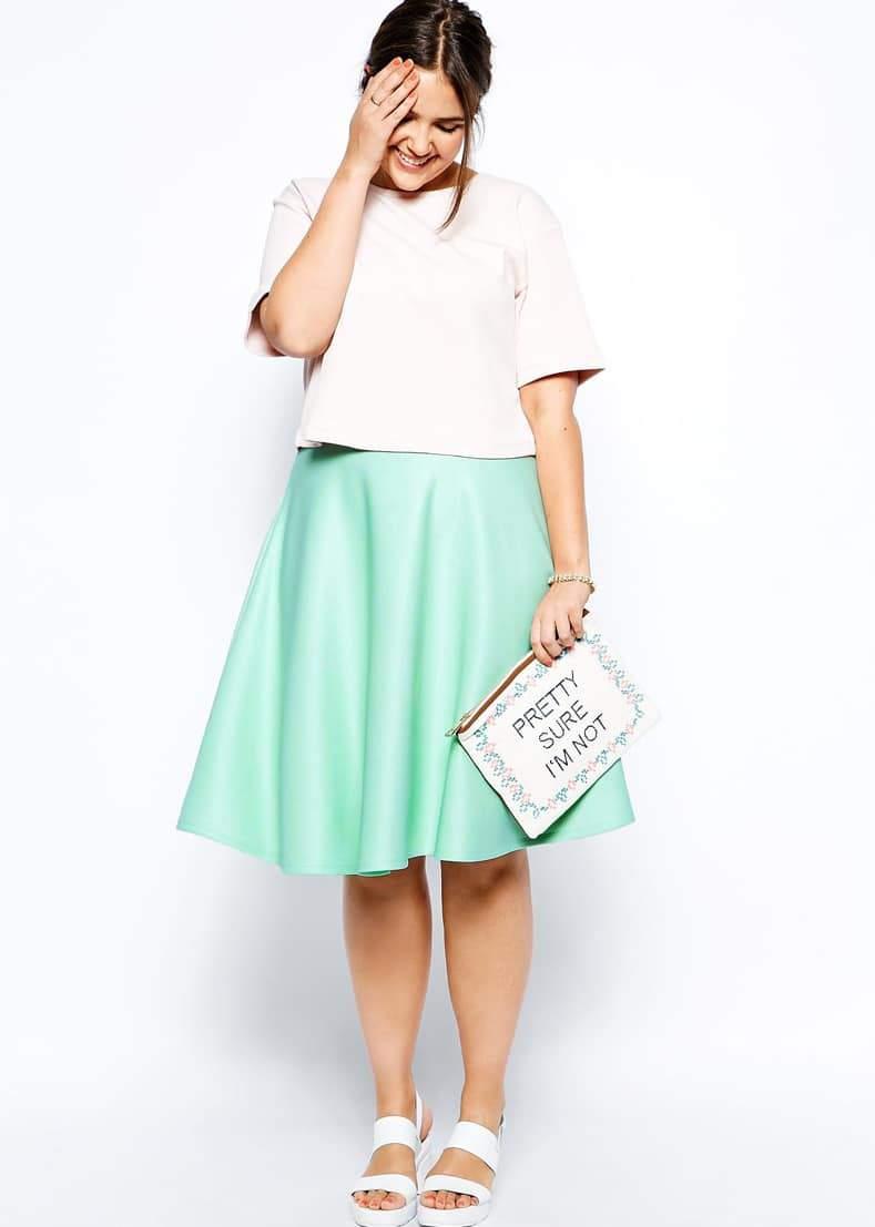 ASOS Curve Scuba Skirt