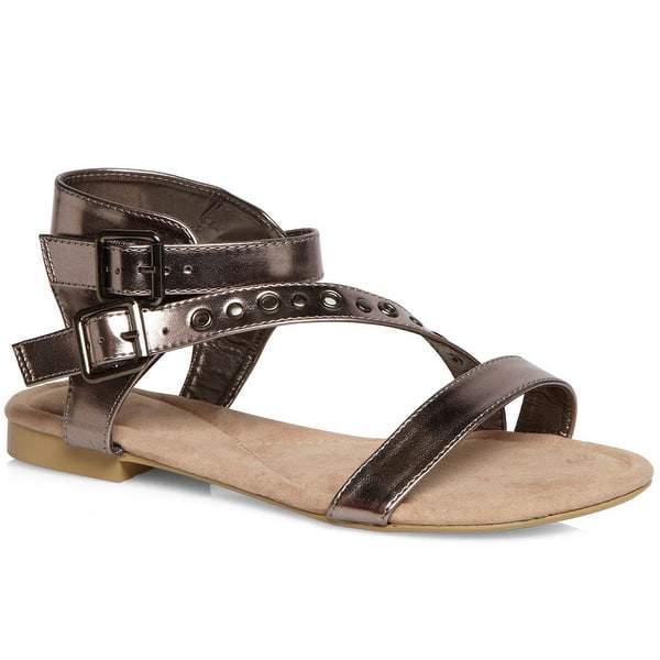 Evans Ellen Pewter Stud Gladiator Sandals
