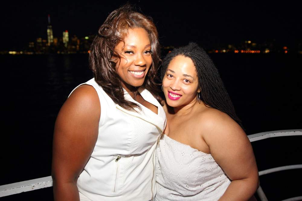 Full FIgured Fashion Week model Andrea and Neo Singer Rajdulari Barnes