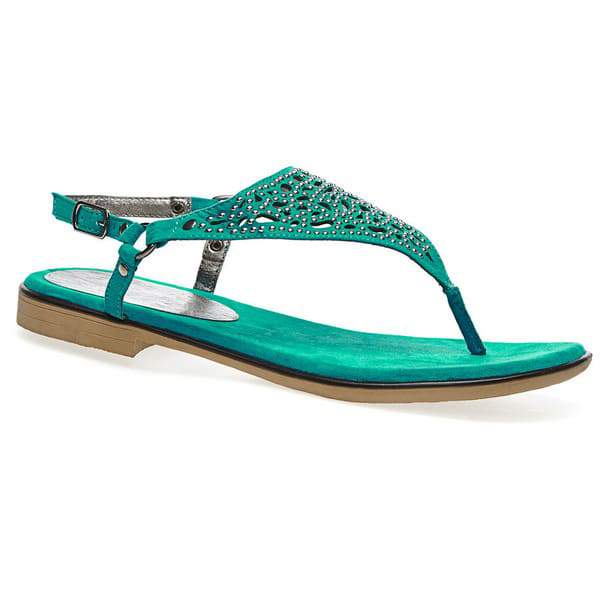 Jazzy Studded Wide Width Thong Sandal at Avenue