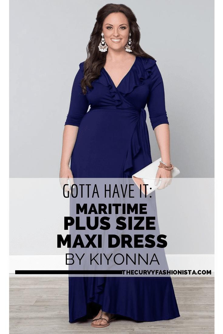 Maritime Maxi Plus Size Maxi Dress by Kiyonna