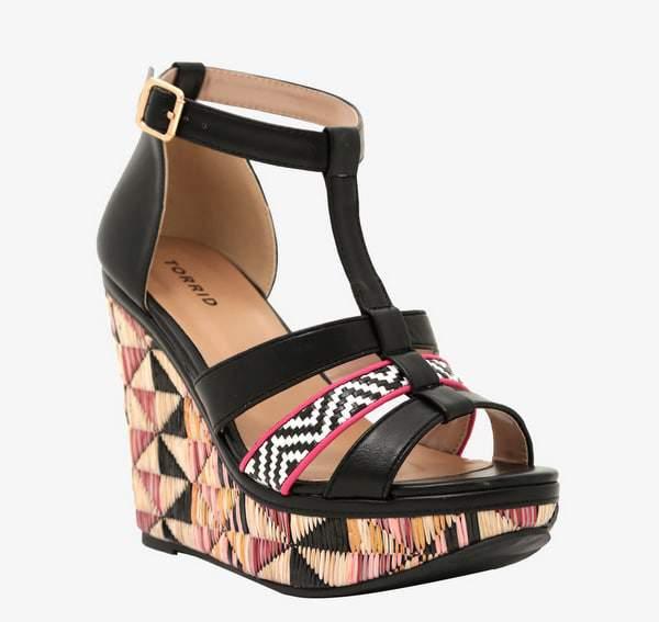 Multi Print Platform Wide Width Wedge Sandals at Torrid
