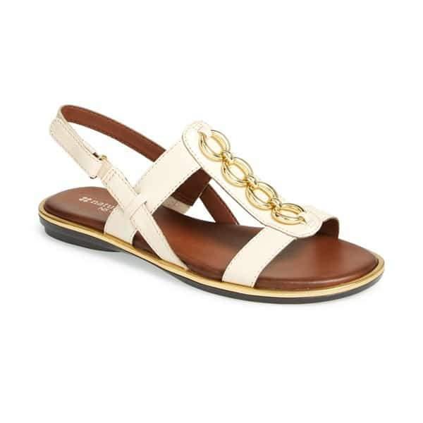 Naturalizer Harrison T-Strap Wide Width Sandal