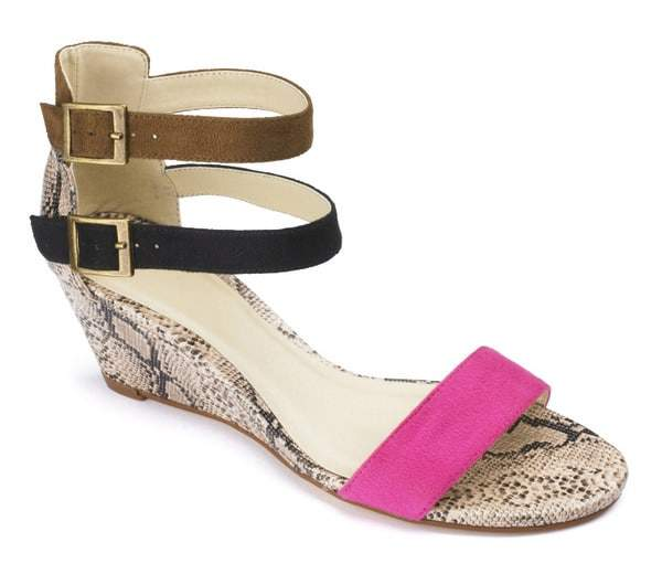 SOLE DIVA STRAPPY Wide Width WEDGE at Simply Be