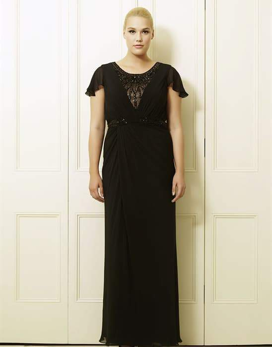Charlotta's Black Plus Size Long Dress by Viviana