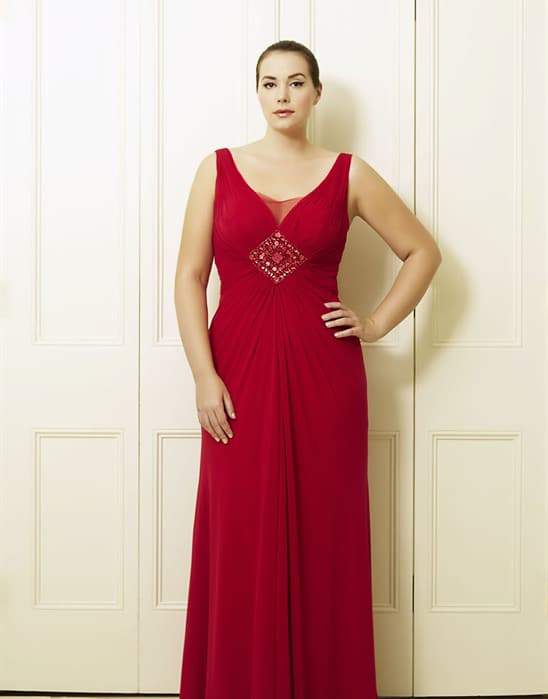 Dion's Red Plus Size Long Dress by Viviana