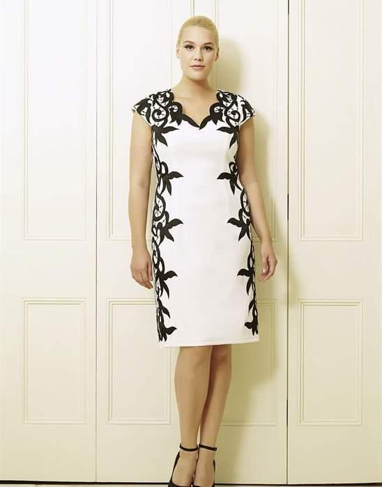 Rosalita's Ivory Black Plus Size Short Dress by Viviana