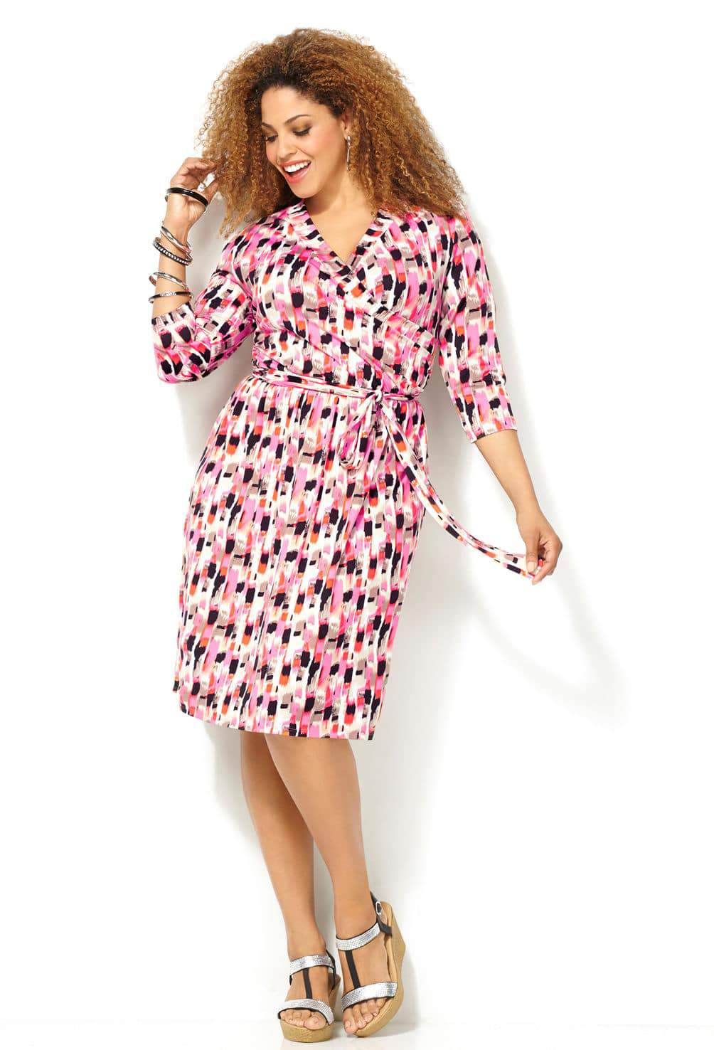 Look #7 Avenue Brushstroke Print Dress