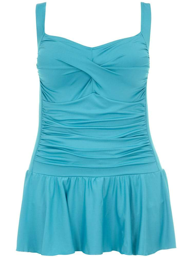 Evans and shown here is the Turquoise Skirted Swimdress