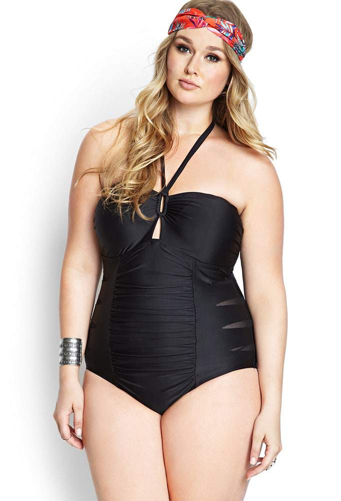 Forever 21 and shown here is the Cutout Craze Swimsuit