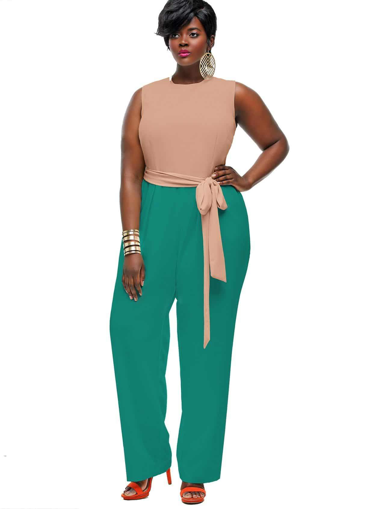 Looks #9 Monif C. Codi Colorblock Jumpsuit