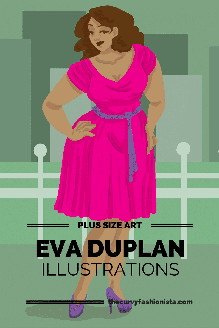 Plus Size Art: Eva Duplan Illustrations