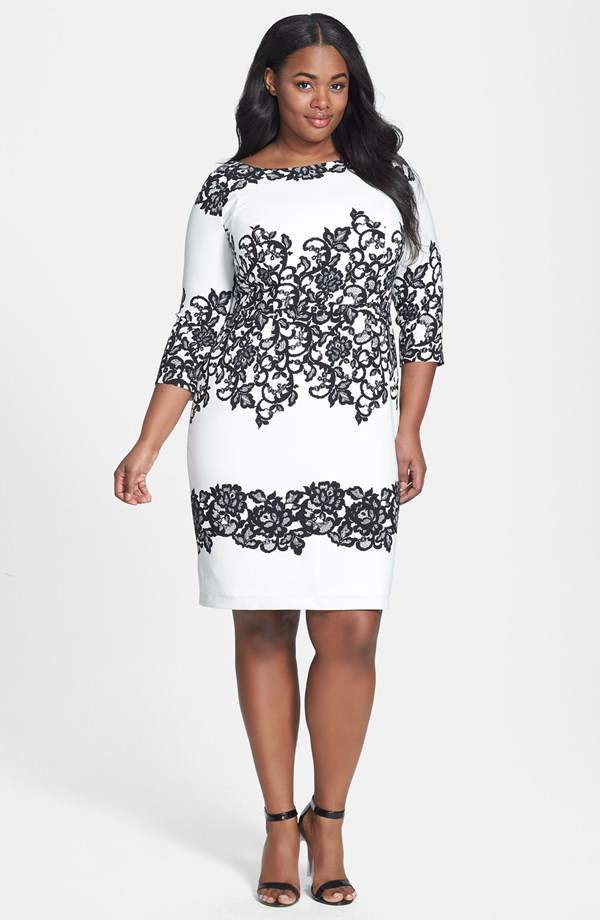 Look #3 Adrianna Papell Print Sheath Dress